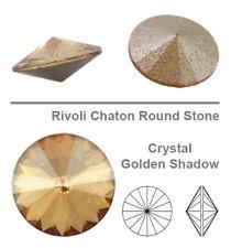 Swarovski 1122 Round Rivoli 18 Mm Crystal Golden Shadow ( for 1 Piece)