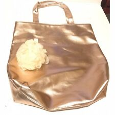 estee Lauder tote bag rose gold bag & bath body shower sponge white