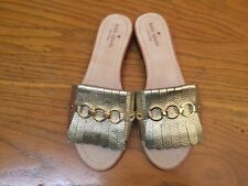 KATE SPADE NEW YORK BRIE GOLD METALLIC SANDALS NEW SIZE 8 $168.00