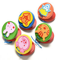 Cartoon Castanets Infant Wooden Musical Toy Instrument Educational Kids Toy cp