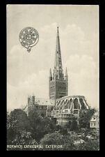 Norfolk NORWICH Cathedral Exterior GER Official Railway PPC