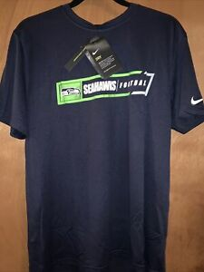 Seattle Seahawks Mens Nike All Football DRI-FIT T-Shirt - L - NWT