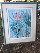 "JOHN PAUL THOMAS ""Orchid Art & the Orchid Isle"" 1981 Hand Signed Matted & Framed"