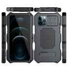 For iPone 12 Pro Max Goggles Stand With tempered glass Super Protect Phone Case