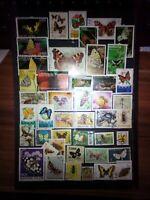 Schmetterlinge Butterfly Maripozas Briefmarken Stamps Sellos Timbres