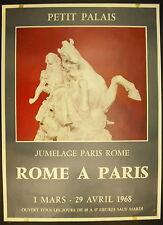 Affiche exposition Sculpture art Italien Rome à Paris 1er Mars 1968 Petit Palais