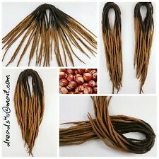 "wool dreadlocks "" chestnut"" 10 pieces"