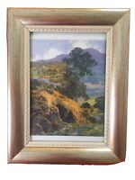 """Maxfield Parrish """"New Hampshire Hills"""" Print Of Painting New Ornate Frame 9 x 7"""