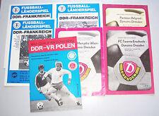 Lot Fussball Programm Hefte DDR VR Polen Frankreich Dynamo Dresden ! (H3