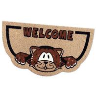 Zerbino semiluna gatto welcome antiscivolo assorbente 40x70 cm tappeto esterno