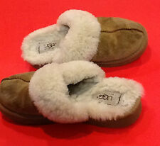 UGG SUEDE FUR LINED MULES/ SLIPPERS