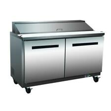 Maxx Cold 48in 2 Door Commercial Salad and Sandwich Prep Table Cooler Mxcr48S