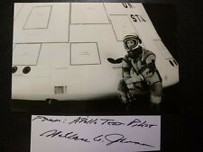 Wallace Johnson Hand Signed Autograph Cut With 4X6 Photo - Apollo Test Pilot