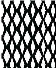 Benartex Fabric Black & White Diamond Lattice -3/4 yard