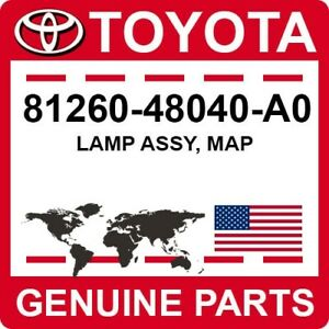 81260-48040-A0 Toyota OEM Genuine LAMP ASSY, MAP
