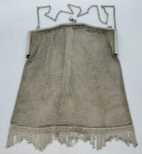 Antique Fine Mesh Chain Mail Binder Brothers Sterling Silver Clasp Purse