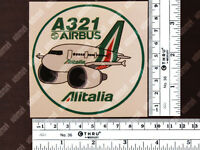 ROUND ALITALIA PUDGY STYLE AIRBUS A321 DECAL / STICKER 3.5 x 3.5 in / 9 x 9 cm