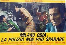 Fotobusta Lobby Card Milan hates: the police cannot shoot Lenzi Milian silva