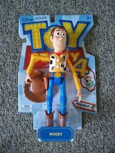 "Sheriff Woody Toy Story 4 Disney Pixar Posable Action Figure 9"""