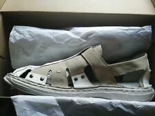 Mens Bata White And Tan Leather And Suede Sandals Size UK 10.5 EU 45