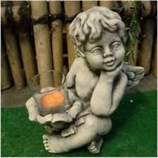 Engel mit Porte-Bougies en verre Figurine Nouveau résistant au gel Cherub
