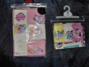 GIRLS 3 PACK VEST OR BRIEFS 'MY LITTLE PONY'  - AGES 2/3 - 10/11 YEARS PINK/WHIT