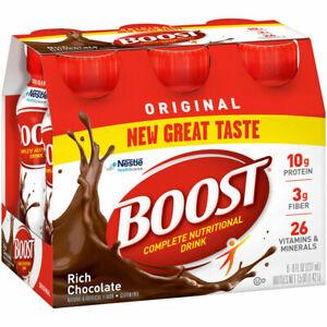 Boost Original Complete Nutritional Drink 6 Ct., Choc, Peach, Str, Vani - U-Pick