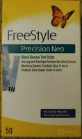 1 box FreeStyle Precision Neo 50 Test Strips Diabetic Blood Glucose Exp 10-31-21