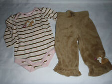 Gymboree Forest Trails Baby Girl 3-6 Month Bodysuit Velour Pants Outfit NWT