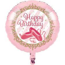 """** 17"""" Feuille Ballon Hélium Ballerines Happy Birthday Party Rose Décoration Nouveau"""