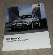 BMW X3 brochure 2009-xDrive 25i 18d 20d 30d 35d se & M Sport
