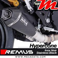 Silencieux Remus Hypercone inox noir sans Catalyseur Ducati Monster 1200 R 2017