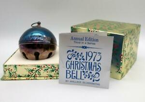 Wallace 1973 Silver Plated Sleigh Bell Christmas Ornament 3th in Series w/ Box