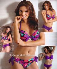 Halterneck Floral Plus Size Bikini Tops for Women