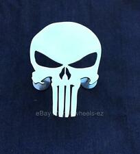 Grill Badge Emblem Billet Punisher Logo Aluminum Polish Finish