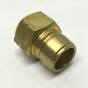 """Eaton Hansen B10T41BS Quick Disconnect Coupler Brass Ball Latch Plug 1-1/4"""" BSPP"""
