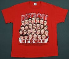 Detroit Red Wings Vintage 1996 In It To Win It Faces T-Shirt Xl Single Stitched
