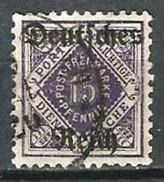 Germany (Weimar) 1920 Used Official 15pf from Wuerttemberg Set O/P Mi 54 SG O157