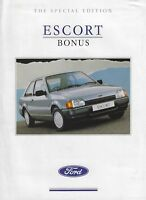 Ford Escort Bonus 1.3 3 Door Special Edition UK Market Brochure February 1989