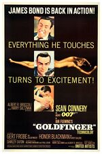 "JAMES BOND - GOLDFINGER - MOVIE POSTER 18"" X 12"" SEAN CONNERY"
