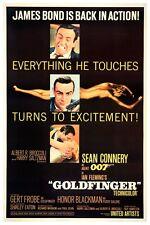 "JAMES BOND - GOLDFINGER - MOVIE POSTER 18"" X 12"" SEAN CONNERY"