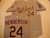 "6330 Oakland A's Athletics RICKEY HENDERSON ""Plus Size"" 1989 World Series JERSEY"