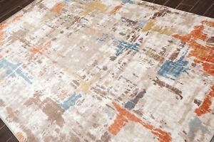 loomBloom 3' x 5' Lara Abstract Oriental Area Rug Taupe, Cream, Brown, Orange