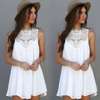 Women Boho Maxi Dress Evening Cocktail Party Beach Short Dresses Sundress Summer