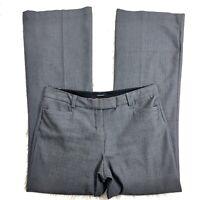 Express Women's Dress Pants Size 8 Gray Herringbone Print Clasp Career Slacks