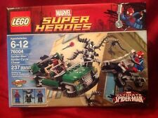 Retired LEGO Super Heroes 76004 Spider-Man Spider-Cycle Chase - NEW! Sealed Set