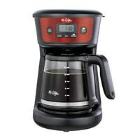 Mr. Coffee 12-Cup Programmable Coffeemaker, Strong Brew Selector, Cranberry Stai