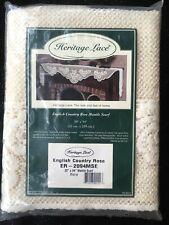 Heritage Lace English Country Rose Mantle Ecru Scarf Runer n20x94 Ecru Cream USA