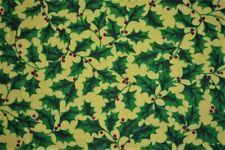 "Quilt Fabric Christmas Mistletoe Print Craft Apparel Upholstery 45"" Holiday12149"