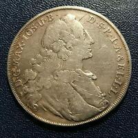 1760 GERMANY BAVARIA SILVER THALER HUGE CROWN COIN